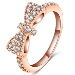 Jewelry - Rose Gold Pave Bow Ring